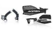 New Acerbis Frame Cover X-Grip YZF 250 450 16-18 X Ultimate HandGuards BLK SIL